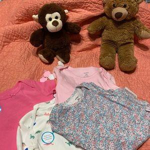 Carters baby girl bodysuit bundle
